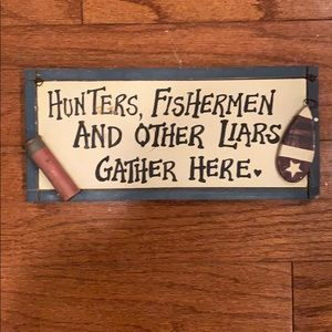 Decorative fishing sign